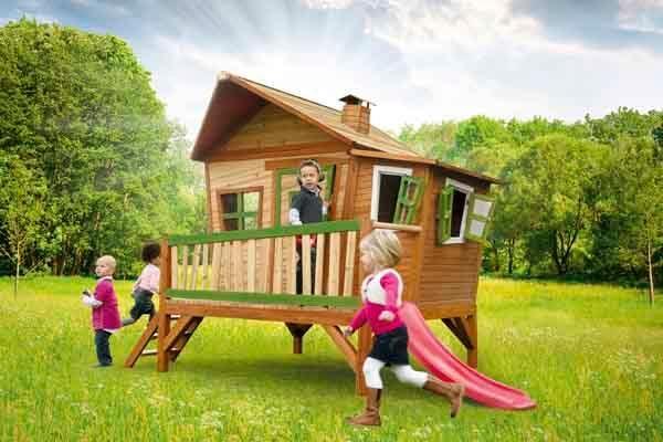 Casita infantil de madera emma for Casita exterior infantil