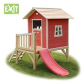 Casita de madera infantil Beach Red elevada