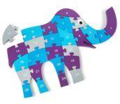 Quebra-cabeças de madeira Elefante