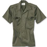 SURPLUS US shirt 1/2 olive / Camisa de manga corta oliva