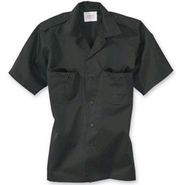 SURPLUS US shirt 1/2 black / Camisa de manga corta negra