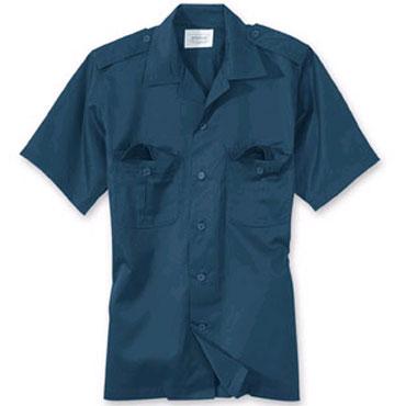 SURPLUS US shirt 1/2 navy / Camisa de manga corta azul marino