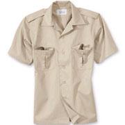 SURPLUS US shirt 1/2 beige / Camisa de manga corta beige