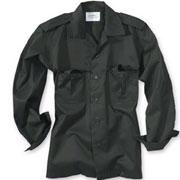 SURPLUS US shirt 1/1 black / Camisa de manga larga negra