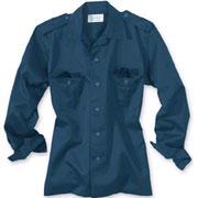 SURPLUS US shirt 1/1 navy / Camisa de manga larga azul marino