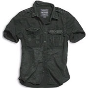 SURPLUS Raw Vintage Shirt shortsleeve black washed / Camisa de manga corta negra desgastada