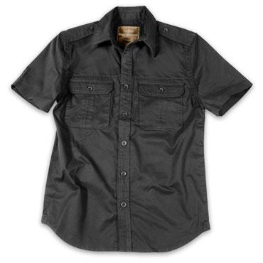 SURPLUS 1/2 Plain Summer Shirt / Camisa Negra Manga Corta