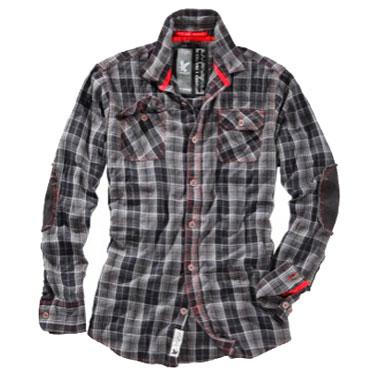 SURPLUS Trooper Check Shirt Camisa Gris
