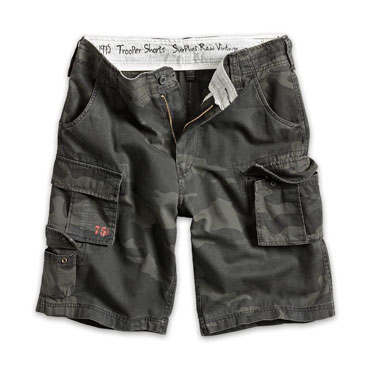 SURPLUS TROOPER SHORTS Black Camo/ Pantalón corto Camuflaje Oscuro