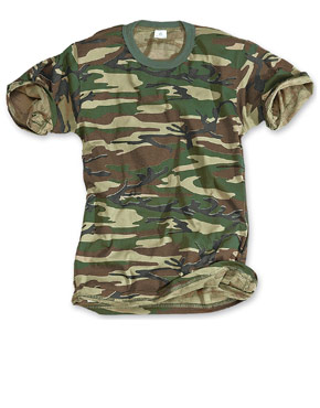 SURPLUS T-Shirt Basic woodland / Camiseta de camuflaje