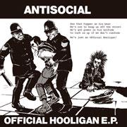Diseño de portada de ANTISOCIAL Official Hooligan EP