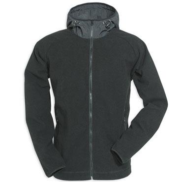 Fleece Hoodie Zipper Black / Polar Negro