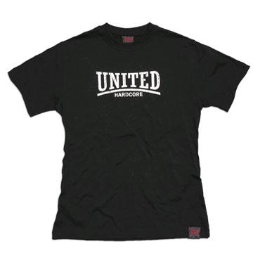 united hardcore camiseta negro hardcore united