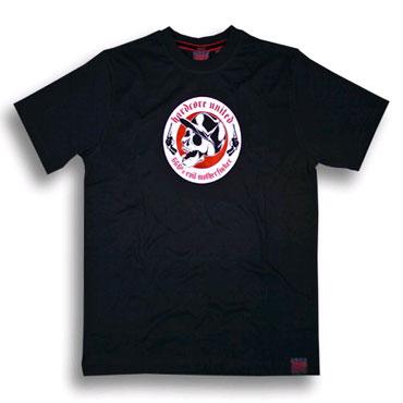 skull & guns camiseta negra hardcore united
