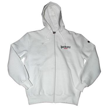 HARDCORE UNITED Hooded Zipjacket TRAX White/Blanco