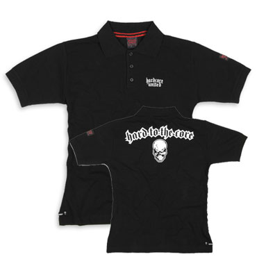 HARDCORE UNITED Slim Fit Polo Piqué Noise Black