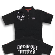 HARDCORE UNITED Polo Piqué GAB Black