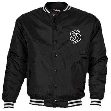 Jacket College Black / Negro Hooligan Streetwear PRODUCTO EN LIQUIDACIÓN