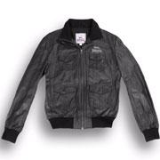 LONSDALE Leather Jacket HIKE Black 110047 - Lonsdale London