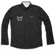 LONSDALE Slim Fit Longsleeve Shirt IAN Black - Lonsdale London