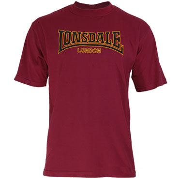 LONSDALE CLASSIC T-Shirt Oxblood 110569 - Lonsdale London