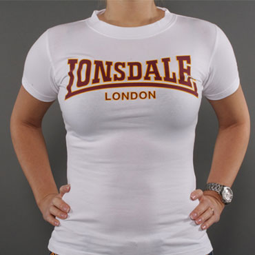 lonsdale classic ladies t shirt white 110594 lonsdale london. Black Bedroom Furniture Sets. Home Design Ideas