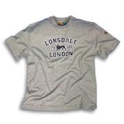 troy gris camiseta lonsdale