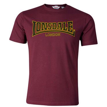 Lonsdale Slim Fit T-Shirt CLASSIC Oxblood / Granate