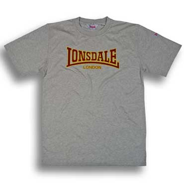 lonsdale slim fit t shirt classic grey. Black Bedroom Furniture Sets. Home Design Ideas