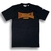 Camiseta LONSDALE Classic en negro entallada