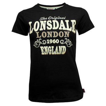LONSDALE Ladies Slim Fit T-Shirt BETSY Black/Negro CHICA