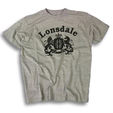 LONSDALE LOGO T-Shirt CREST Grey 112043 - Lonsdale London