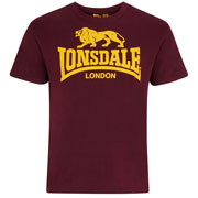 LONSDALE Logo T-shirt Oxblood camiseta Granate