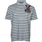 CREST Polo Gris con rayas Negras / Polo shirt HOOLIGAN STREETWEAR