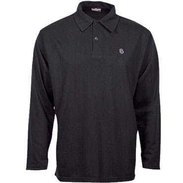 CASUAL Polo manga larga Negro / Polo shirt HOOLIGAN STREETWEAR