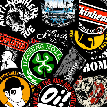 Good quality stickers for skinheads punks mods hardcore kids and scooterists