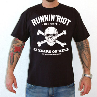 RUNNIN RIOT 17 Years of Hell T-shirt / Camiseta