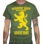 RUNNIN RIOT Crest 1993 T-shirt / Camiseta Oliva
