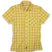 SPIRIT OF 69 - Short Sleeve Slimfit Shirt Tartan 4077 Yellow/Orange/Brown / Camisa de manga corta