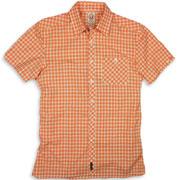 SPIRIT OF 69 - Short Sleeve Slimfit Shirt Tartan 7538 White / Orange / Camisa de manga corta