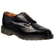 SPIRIT OF 69 - 5 Eyelet Leather Shoe American Brogue Black / Zapato negro de piel con 5 agujeros
