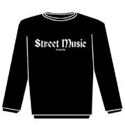 STREET MUSIC Sudadera s/capucha NEGRA
