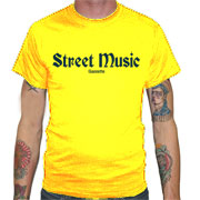 STREET MUSIC Camiseta Amarilla