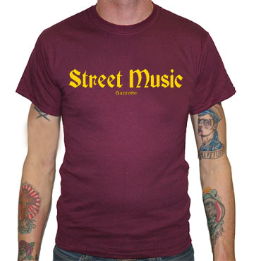 STREET MUSIC Camiseta Granate
