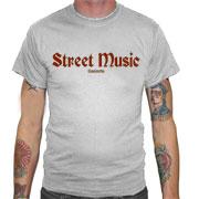 STREET MUSIC Camiseta Gris
