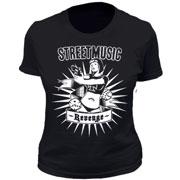 STREET MUSIC Revenge GIRL T-shirt Camiseta chica