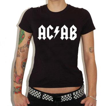 ACAB T-shirt / Camiseta Negra CHICA
