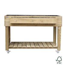 Mesa de cultivo de madera para huerto urbano Ecomaxi