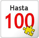 Hasta 100 piezas