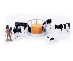 Pack granjero, vacas y comedero Britains 43137